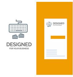 keyboard interface type typing grey logo design vector image