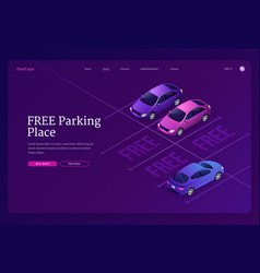 landing page free parking place vector image