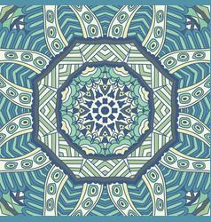 line art abstract ornamental winter vector image