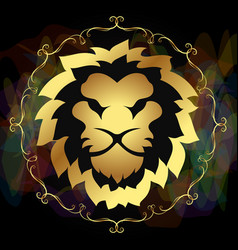 lion golden symbol vector image