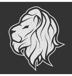 Lion symbol the logo for dark background vector