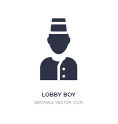Lobboy icon on white background simple element vector