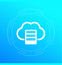 Mainframe hosting or cloud storage icon vector