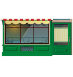 mini cafe shop exterior isolated on white vector image