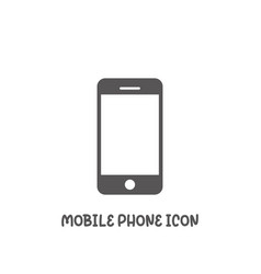 mobile phone icon simple flat style vector image