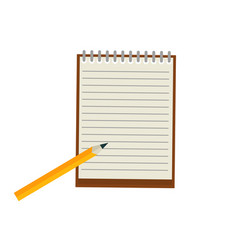 notepad with pencil vector image