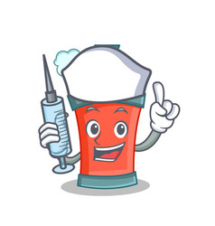 nurse aerosol spray can character cartoon vector image