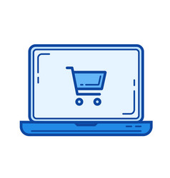 online shopping line icon vector image