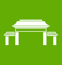 pagoda icon green vector image