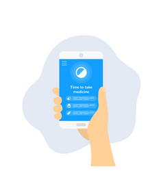 pill reminder app design vector image