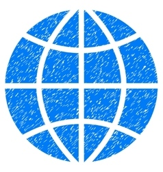 Planet Globe Grainy Texture Icon vector