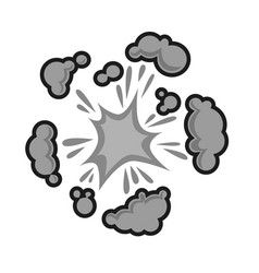 pow bubble sound blast clouds for cartoon or comic vector image