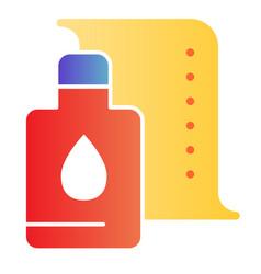 Printer cartridge flat icon printer paint can vector