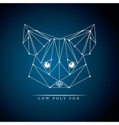 Raccoon low poly vector