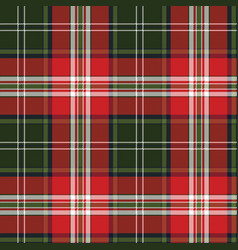Red green plaid seamless fabric texture vector