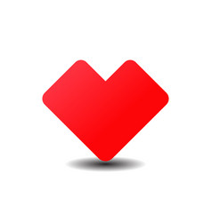 red heart icon color simple flat icon on white vector image