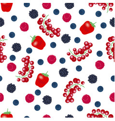 seamless pattern from falling ripe berries vector image
