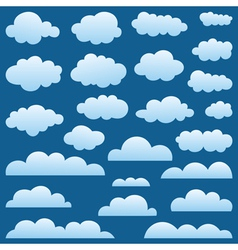 Set a cloud vector image
