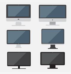 Set computer computer flat design vector