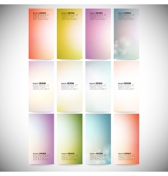 Set Of Colored Abstract Backgrounds Modern vector image