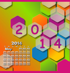 Simple european 2014 year calendar vector