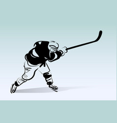 sketch of hockey player vector image
