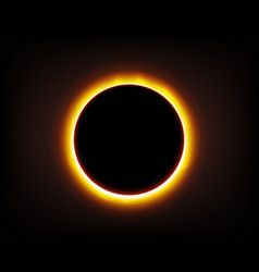 solar eclipse on space vector image