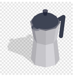 steel coffee pot isometric icon vector image