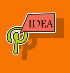 sticker unusual look icon of pinterest on vector image