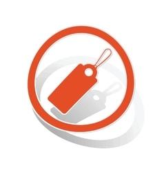 String tag sign sticker orange vector image