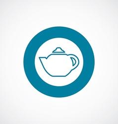 Teapot icon bold blue circle border vector