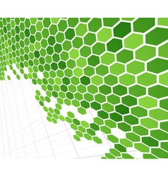 technological green cells vector image