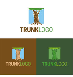 Trunk logo and icon vector
