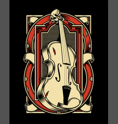 Viola musical instrument string hand drawing vector