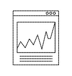 website network finance economy graph statistics vector image