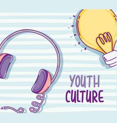 Youth culture cartoons vector