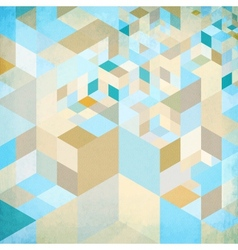 Abstract geometry blue background vector image vector image