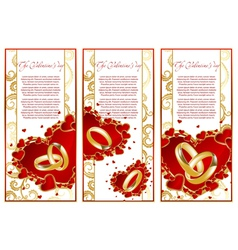 abstract set frame with hearts vector image vector image