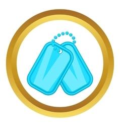 Army badge icon vector