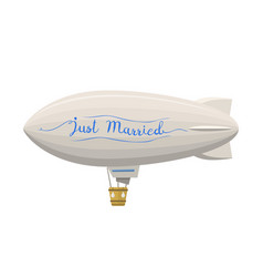 ballon wedding aerostat transport vector image