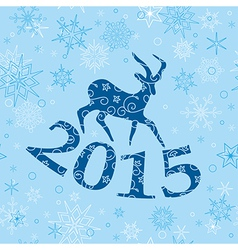blue christmas background with goat vector image