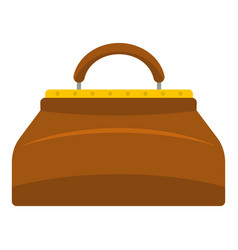 carpetbag icon isolated vector image vector image