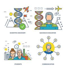 communication discoveries achievements vector image