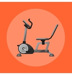 Exercise bike Gym sports equipment icon vector image