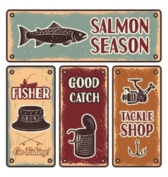 Fishing Emblem Set vector image