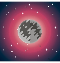 flat icon of Moon vector image vector image