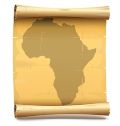 Paper Scroll with Africa vector image vector image