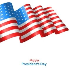 Patriotic Background with Flag USA Waving Wind for vector image vector image