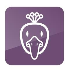 Peacock icon Animal head vector image vector image