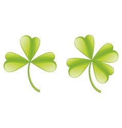 Set of clover leaves vector image